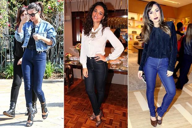 c91a5ca49 Selena Gomez, Débora Nascimento e Sabrina Sato desfilaram por aí usando  jeans de cintura alra